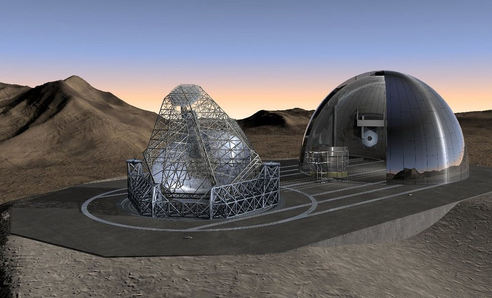 Artist's impression of the OWL Telescope being deployed at night from its enclosure, where it will operated during the daytime. - Image Credit: ESO