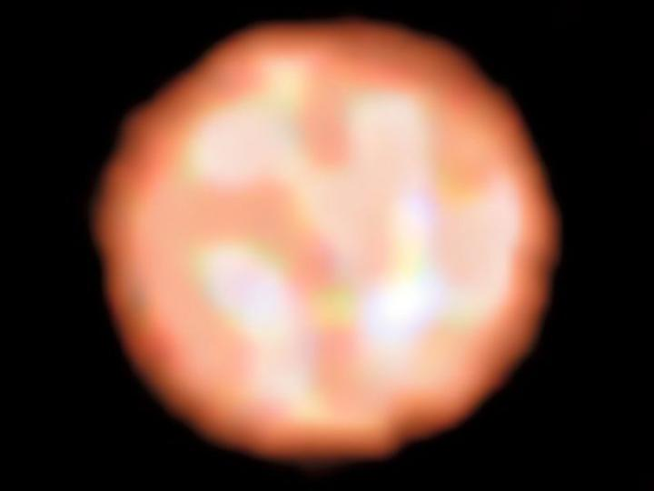 The surface of the red giant star Π¹ Gruis from PIONIER on the VLT. - Image Credit: ESO