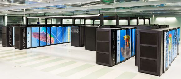 The Hazel Hen Supercomputer is based on Intel processors and Cray network technologies. Image Credit: IllustrisTNG