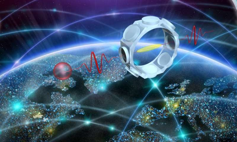 Researchers have achieved a quantum memory efficiency of 70 percent, making quantum networks that much more possible. - Image Credit: LKB