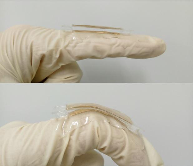 A prototype metallic tab. - Image credit: Nano Electricity/University at Buffalo