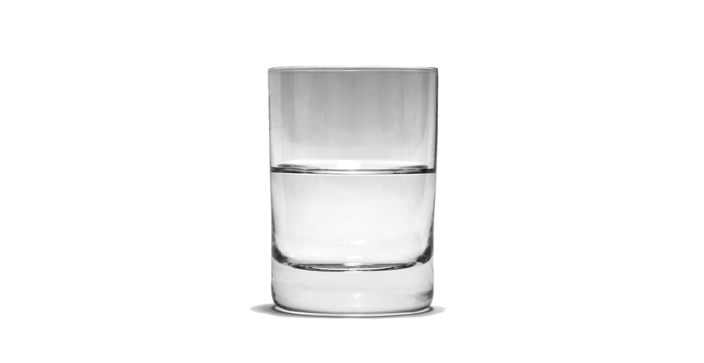 Seeing the glass as half empty may inspire some people to fill it up - Image Credit: S nova via Wikimedia Commons