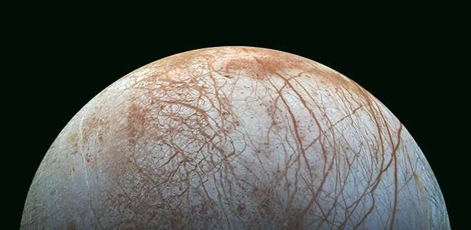 Europa is an icy candidate for identifying life in the universe. - Image Credit: NASA