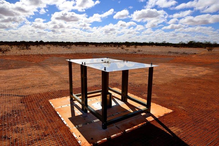 EDGES ground-based radio spectrometer, CSIRO's Murchison Radio-astronomy Observatory in Western Australia. - Image Credit: CSIRO Australia