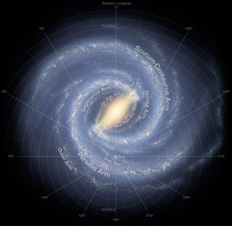 Artist's impression of the Milky Way Galaxy. - Image Credit: NASA/JPL-Caltech/R. Hurt (SSC-Caltech)