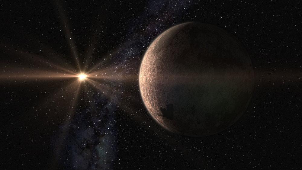 Artistic design of the super-Earth GJ 625 b and its star, GJ625 (Gliese 625). - Image Credit: Gabriel Pérez/SMM (IAC)
