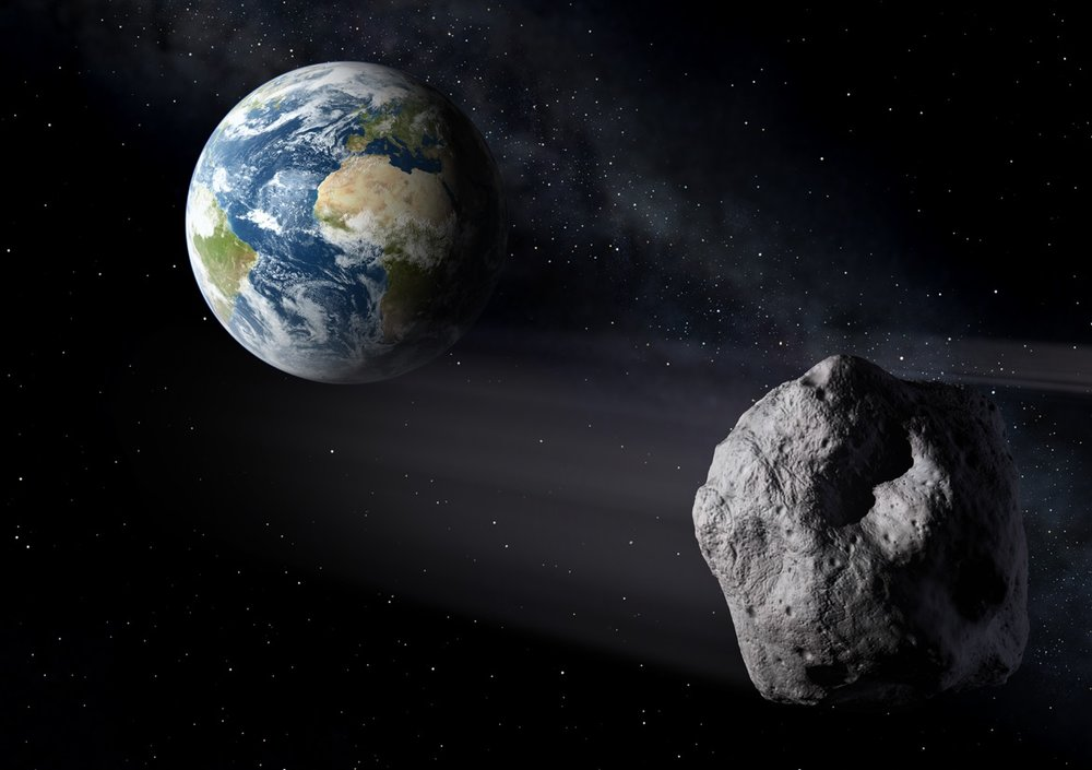 An asteroid strike that could wreak some serious havoc on Earth may be statistically unlikely, but it's not like there's no precedent for one. In this artist's image, an asteroid passes harmlessly past the Earth. - Image Credit: ESA