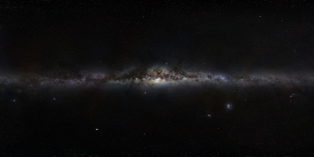 360-degree panorama view of the Milky Way (an assembled mosaic of photographs) by the ESO. - Image Credit: ESO/S. Brunier