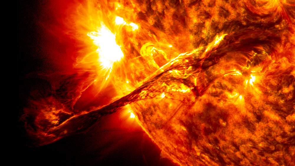 A coronal mass ejection erupts from the sun in 2012 - Image Credit:  NASA