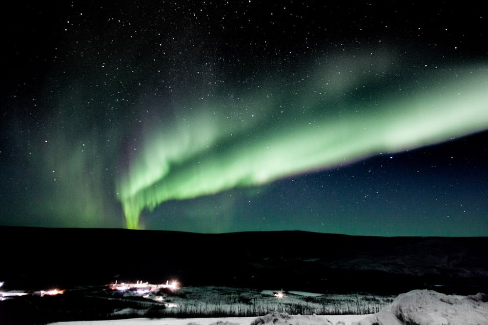 Aurorae are signs of a geomagnetic storm. - Image Credit:  NASA/Terry Zaperach