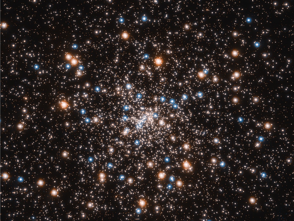 This ancient stellar jewelry box, a globular cluster called NGC 6397, glitters with the light from hundreds of thousands of stars. - Credits: NASA, ESA, and T. Brown and S. Casertano (STScI) ; Acknowledgement: NASA, ESA, and J. Anderson (STScI)