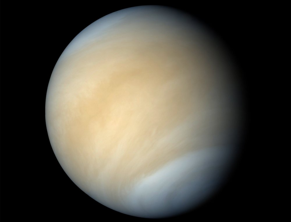 According to a new study, microbial life could exist in Venus' cloud tops, where temperature and pressure conditions are favorable. - Image Credit: NASA