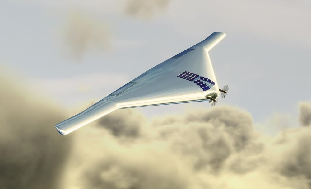 Aircraft like the Venus Atmospheric Maneuverable Platform (VAMP) could explore the cloud tops of Venus for possible signs of life. - Image Credit: Northrop Grumman Corp