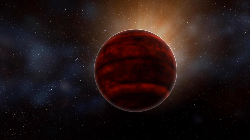 Artist impression of a red dwarf star like Proxima Centauri, the nearest star to our sun. New analysis of ALMA observations reveal that Proxima Centauri emitted a powerful flare that would have created inhospitable conditions for planets in that system. - Image Credit: NRAO/AUI/NSF; D. Berry