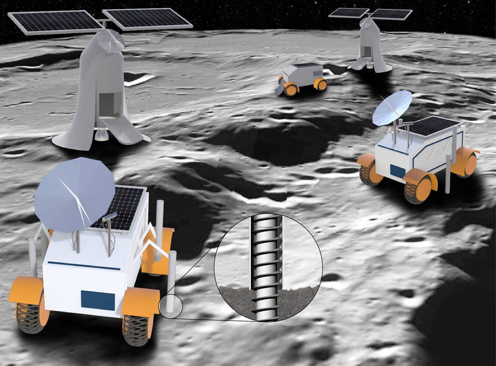 An artist's rendering of lunar rover concepts. _ Image Credit:  Sung Wha Kang (RISD) ,  CC BY-ND