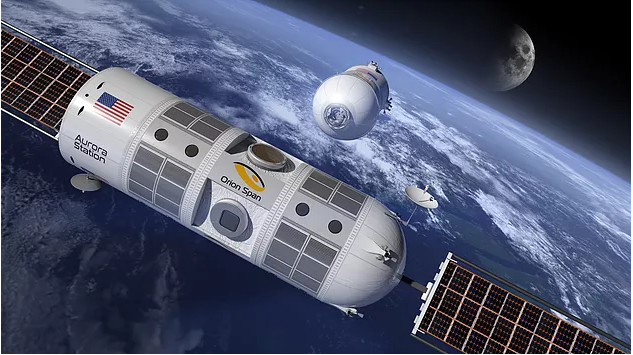 Aurora Station will also host micro-gravity research and in-situ manufacturing. - Image Credit:Orion Span