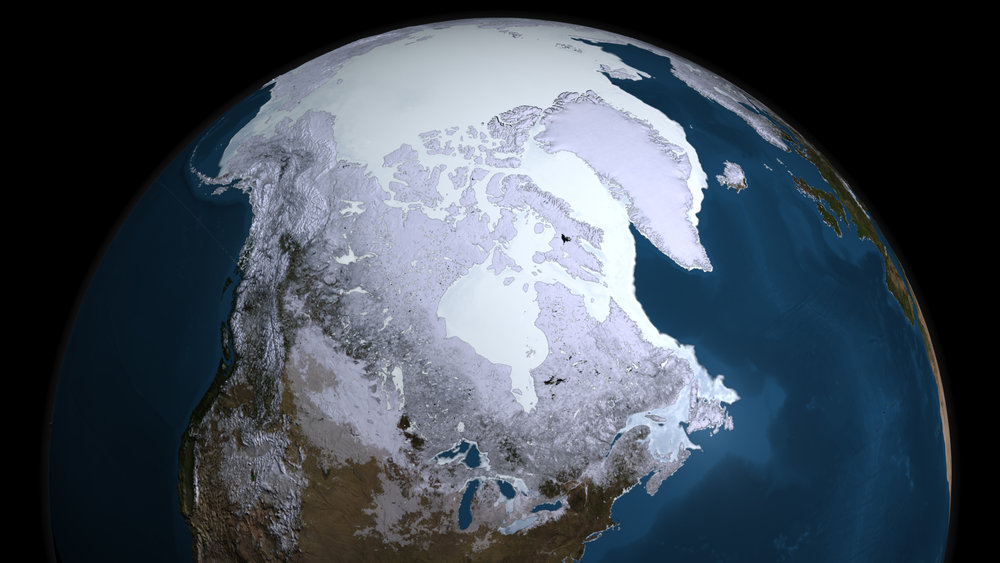 Ice ages are characterized by a drop in average global temperatures, resulting in the expansion of ice sheets globally. - Image Credit: NASA