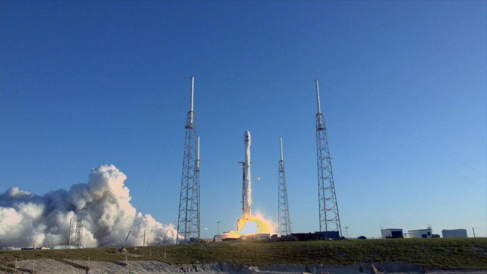Liftoff of the SpaceX Falcon 9 rocket carrying NASA's TESS spacecraft. - Image credit: NASA TV