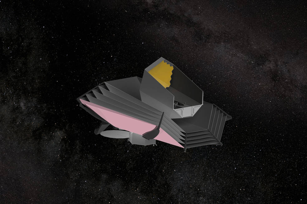 Artist's concept of the the Origins Space Telescope (OST). - Image Credits: NASA/GSFC