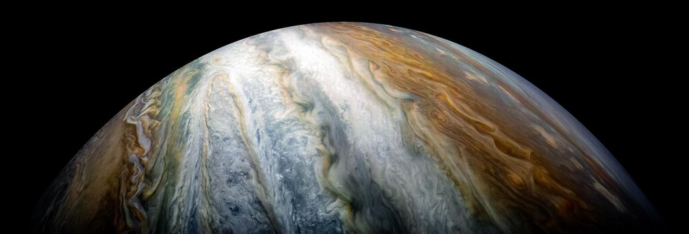 Time to peer below the swirling clouds of Jupiter. - Image Credit:  NASA/JPL-Caltech/SwRI/MSSS/Kevin M. Gill ,  CC BY