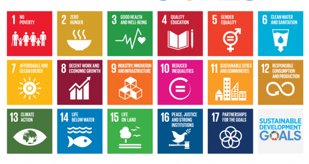 The UN's Sustainable Development Goals apply to all countries and were adopted in 2015. - Image Credit:  UN  via Wikimedia Commons