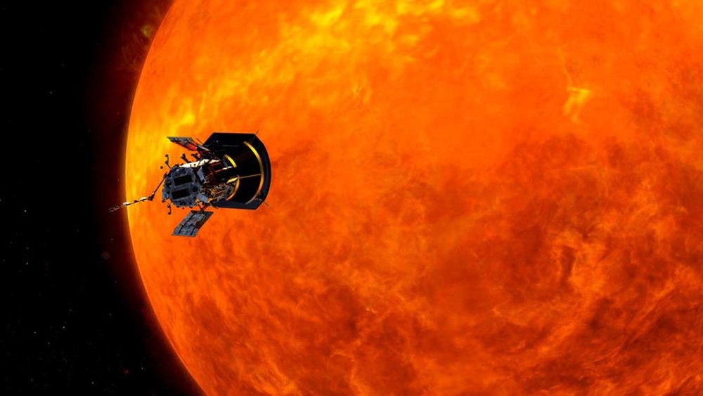 Illustration of the Parker Solar Probe spacecraft approaching the Sun. - Image Credits: Johns Hopkins University Applied Physics Laboratory