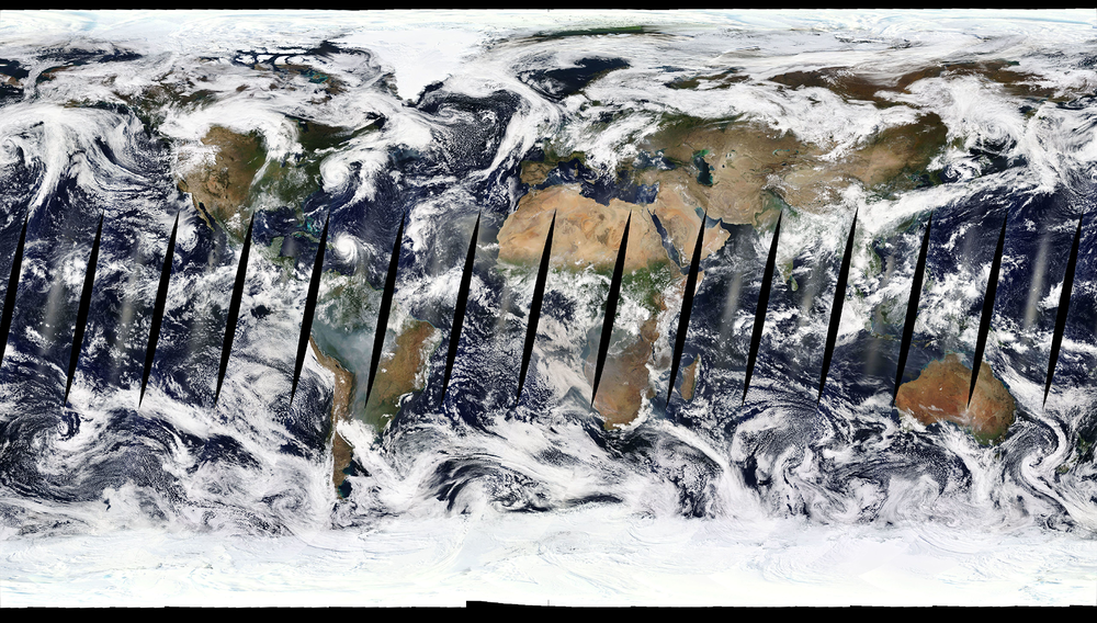 View two decades of planetary change through imagery like this one at  NASA's Worldview.  - Image Credit: NASA's Goddard Space Flight Center