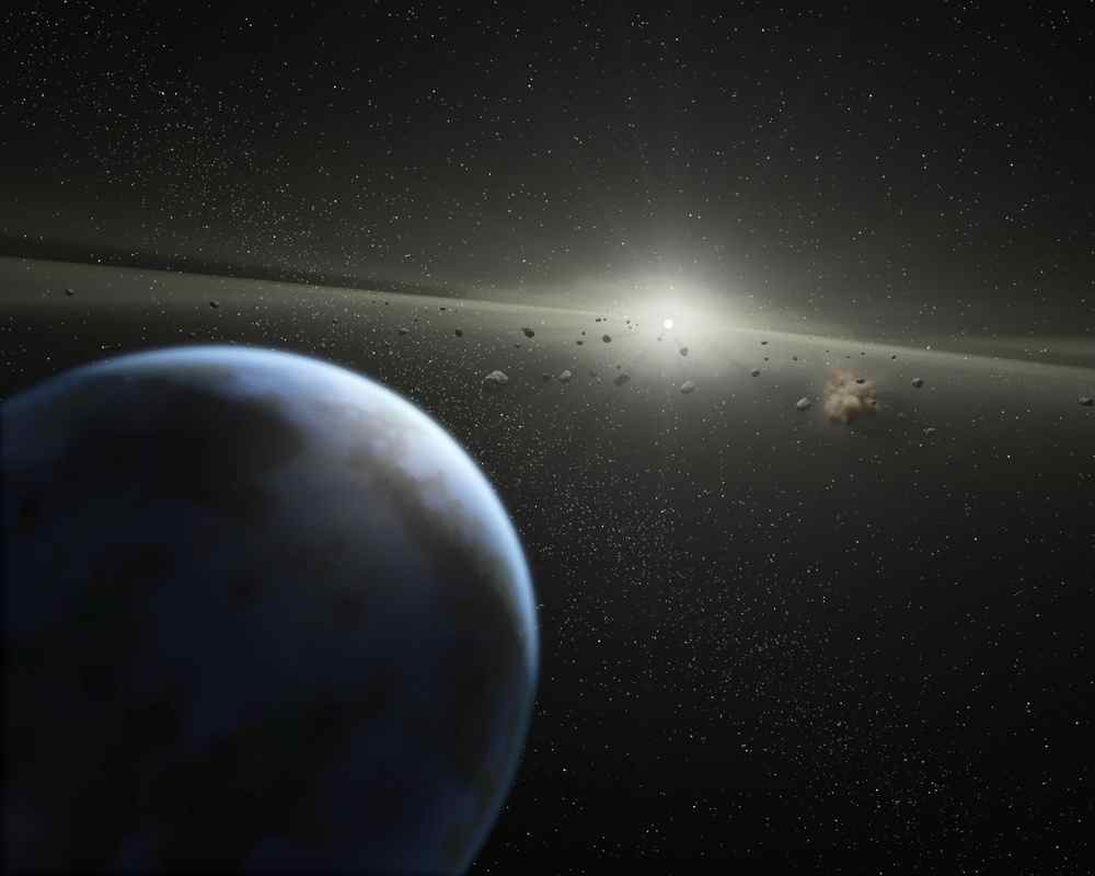 Artist's depiction of a watery exoplanet -  Image Credit: NASA/JPL-Caltech