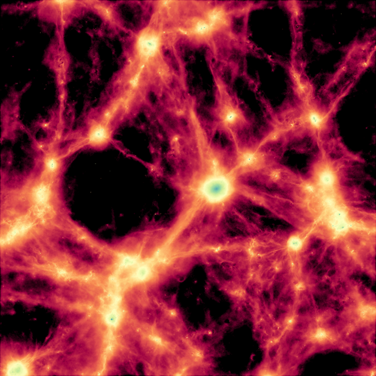 Each simulation led to a universe with specific structure. - Image Credit Durham University