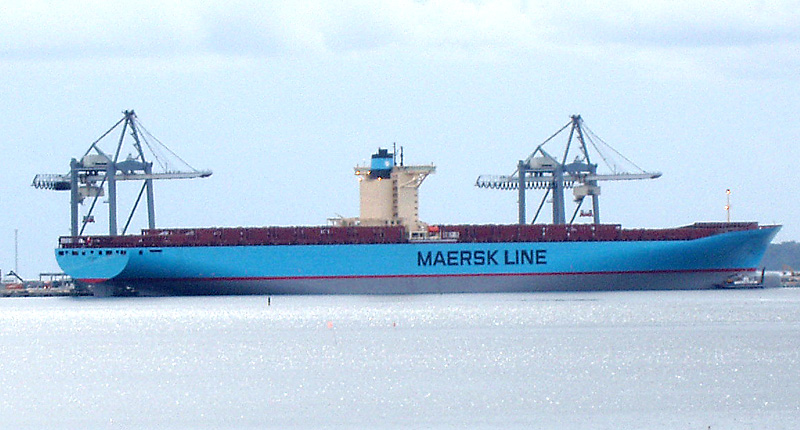 A.P. Moller-Maersk's entire fleet was delayed due to a cyber-attack in 2017. - Image Credit:  Wikimedia/Nils Jepsen ,  CC BY