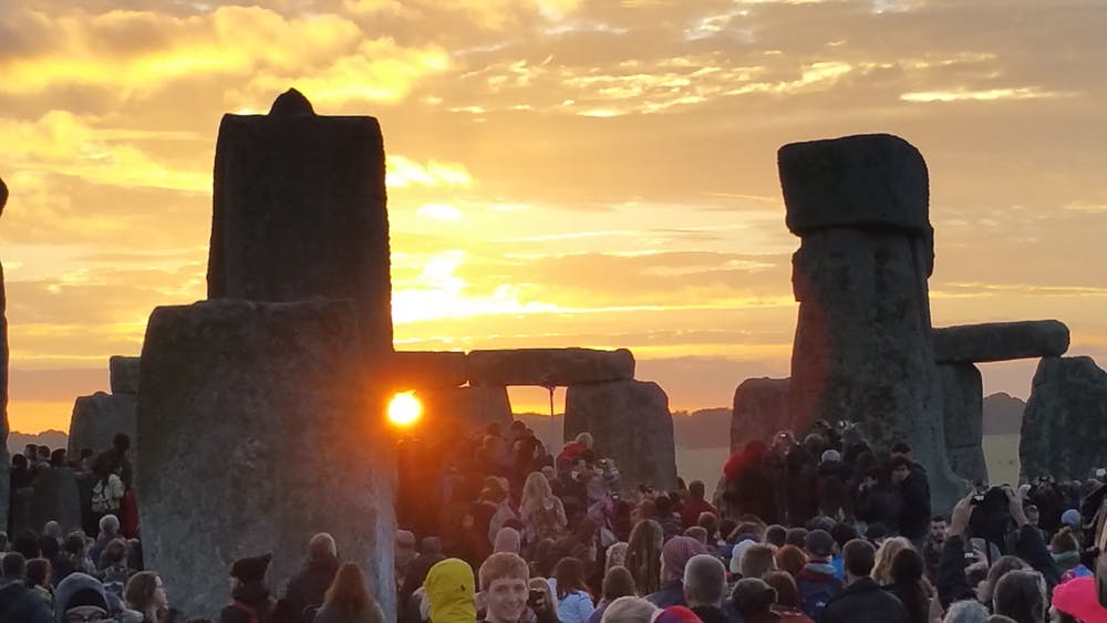 Even today, visitors flock to see the solstice at Stonehenge. - Image Credit: Stonehenge Stone Circle , CC BY (click to enlarge)