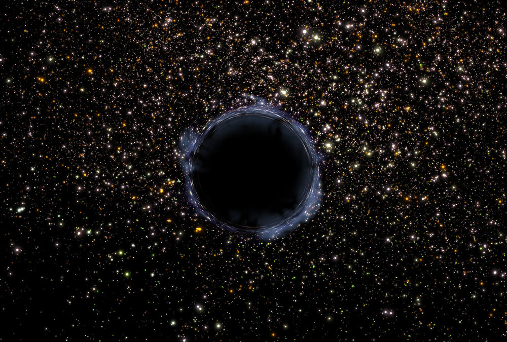 An artist's impression of a black hole - Image Credit:  NASA via Wikimedia Commons