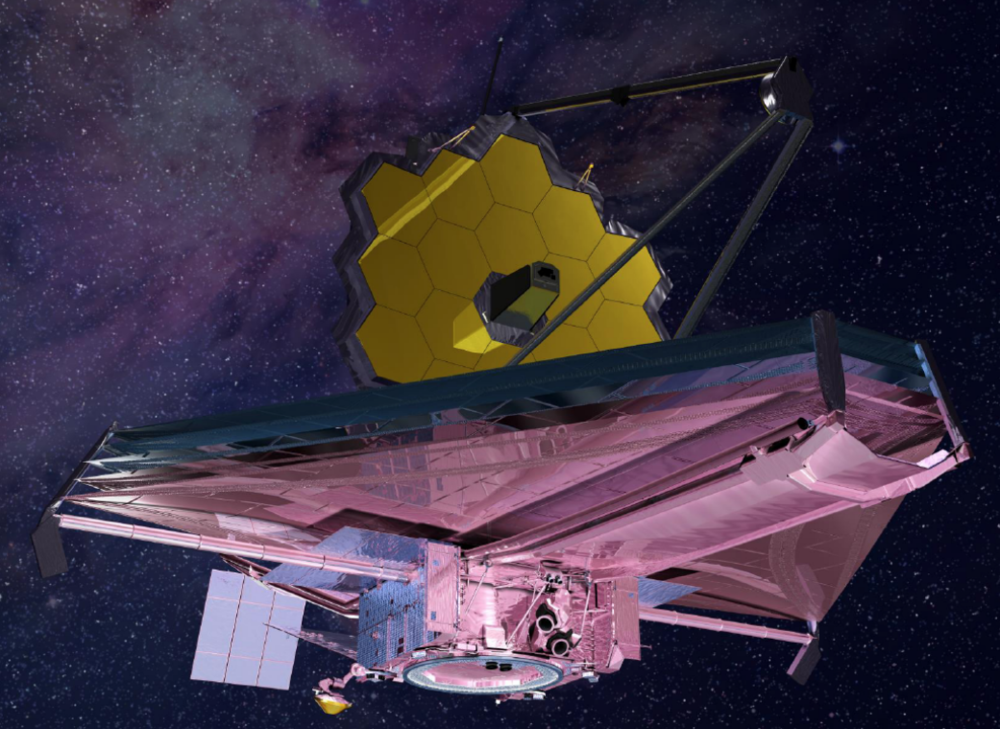 Illustration of NASA's James Webb Space Telescope. - Image Credits: NASA