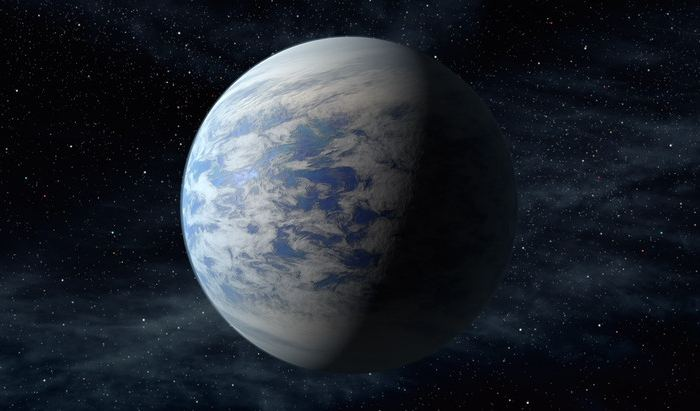 Artist's concept of Kepler-69c, a super-Earth-size planet in the habitable zone of a star like our sun, located about 2,700 light-years from Earth in the constellation Cygnus. - Image Credit: NASA
