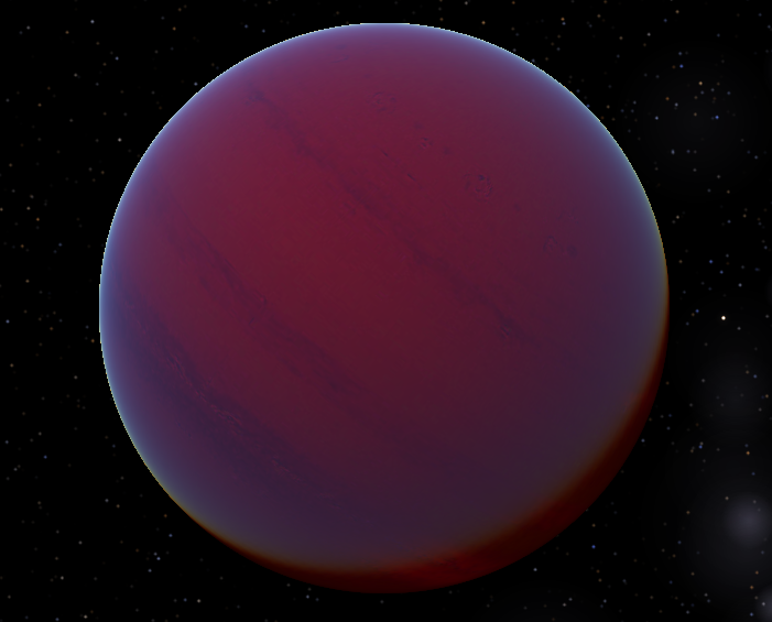 An artist's conception of a T-type brown dwarf  -  Image Credit:  Tyrogthekreeper via Wikimedia Commons