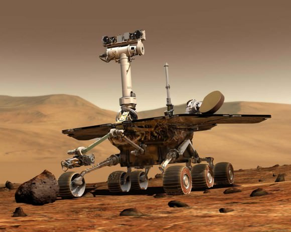 Artist's impression of the Opportunity Rover, part of NASA's Mars Exploration Program. - Image Credit: NASA/JPL-Caltech