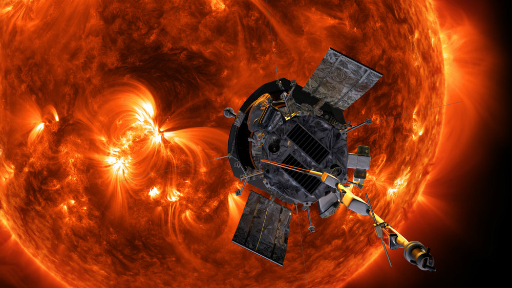 An illustration of Parker Solar Probe approaching the Sun. - Image Credits: NASA/Johns Hopkins APL/Steve Gribben