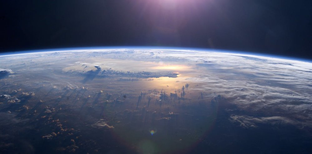 Earth's Pacific Ocean seen from the International Space Station. - Image Credit: NASA