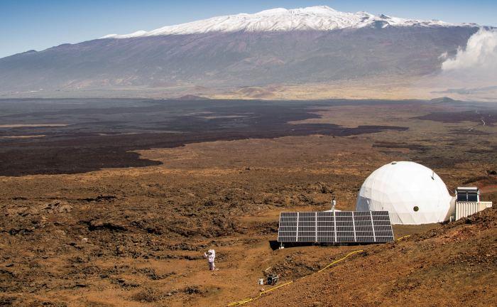 The HI-SEAS habitat, located on Mauna Loa, Hawaii, where volunteers train to live on Mars. - Image Credit: NASA/Hi-SEAS