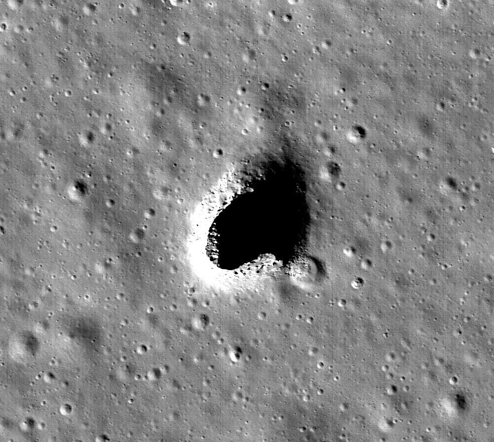 The Marius Hills Skylight, as observed by the Japanese SELENE/Kaguya research team. - Image Credit: NASA/Goddard/Arizona State University