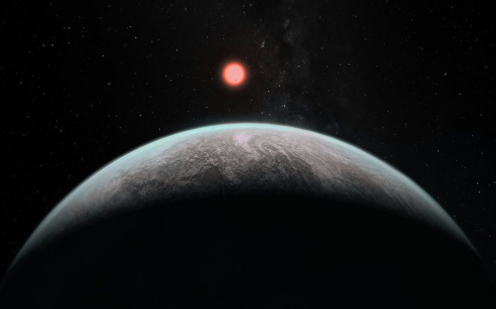 Artist's impression of how an an Earth-like exoplanet might look. - Image Credit: ESO