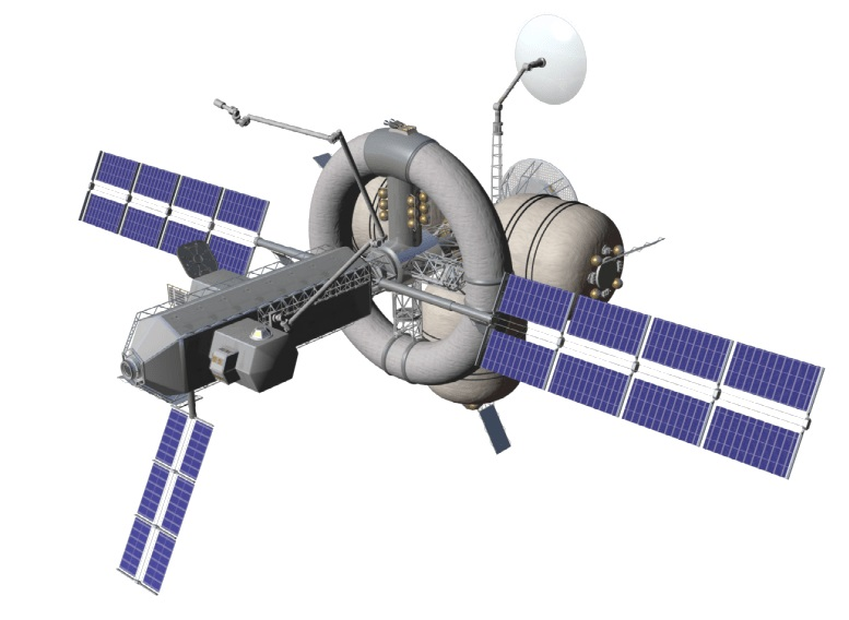 A global view of the Nautilus-X multi mission space exploration vehicle designed by NASA. - Image Credit: Mark L Holderman – NASA Technology Applications Assessment Team