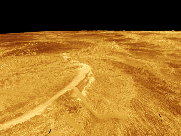 Venus as seen by Magellan. - Image Credit: NASA