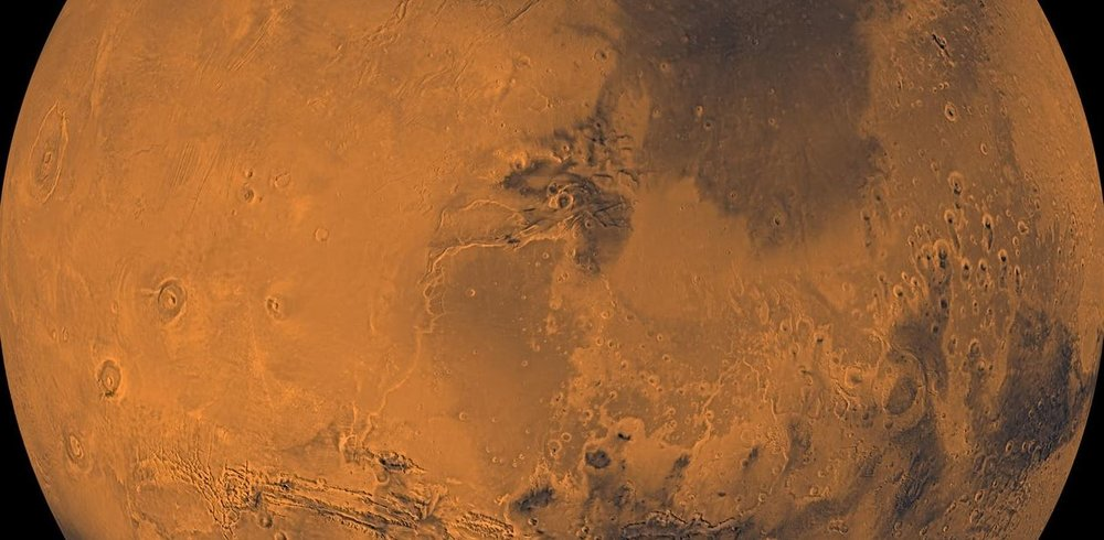 Mars seen by the Viking orbiter. - Image Credit: NASA/JPL/USGS