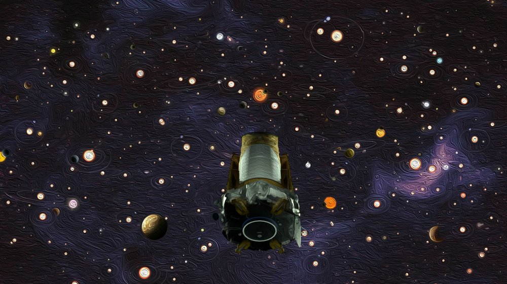 This illustration depicts NASA's exoplanet hunter, the Kepler space telescope. The agency announced on Oct. 30, 2018, that Kepler has run out of fuel and is being retired within its current and safe orbit, away from Earth. Kepler leaves a legacy of more than 2,600 exoplanet discoveries. - Image Credits: NASA/Wendy Stenzel/Daniel Rutter