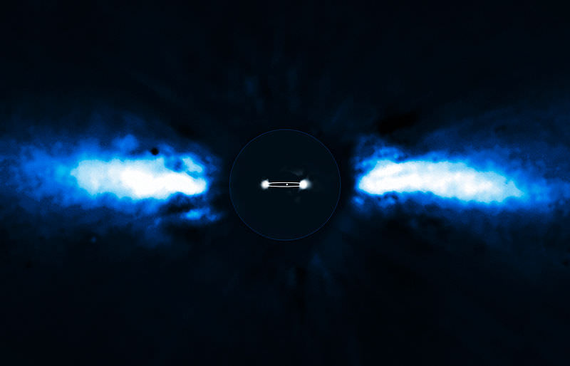 The exoplanet Beta Pictoris b, which was observed by direct detection. - Image Credit: ESO