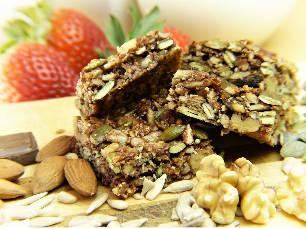 While muesli bars are made up of healthy elements, it's usually sugar holding them together. - Image Credit:  silviarita via Pixabay