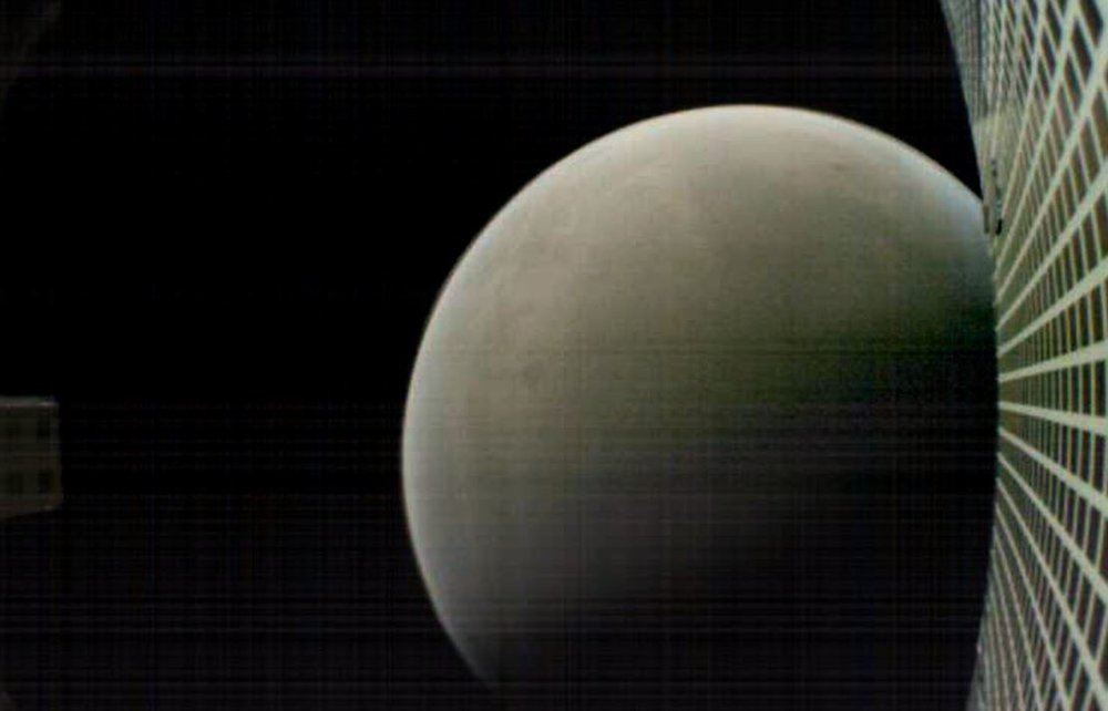 MarCO-B, one of the experimental Mars Cube One (MarCO) CubeSats, took this image of Mars during its flyby of the Red Planet on Nov. 26th, 2018. - Image Credits: NASA/JPL-Caltech