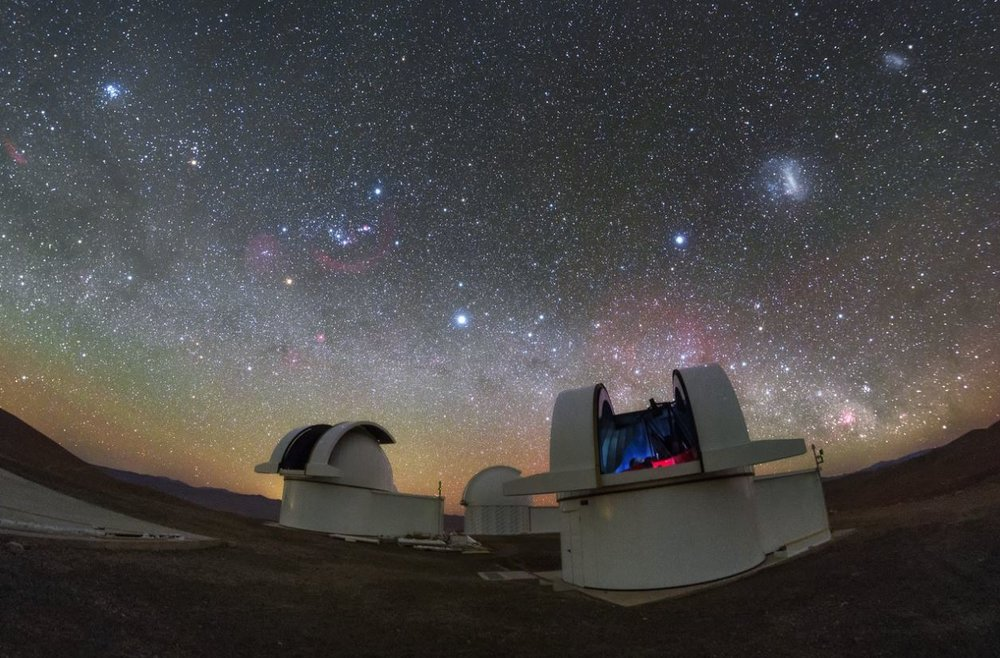 The telescopes of the SPECULOOS Southern Observatory gaze out into the stunning night sky over the Atacama Desert, Chile - Image Credit: ESO/ P. Horálek