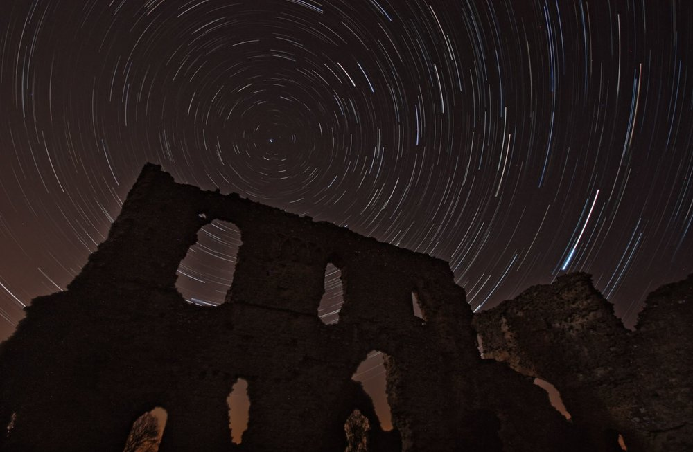 Distant stars above the ruins of Sherborne Old Castle, in the UK - Image Credit:  Rich Grundy   via flickr